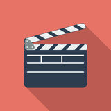 Director clapperboard icon. Flat vector related icon with long shadow for web and mobile applications. It can be used as - logo, pictogram, icon, infographic Royalty Free Stock Image