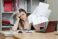 Director of the company mired in papers Stock Photography