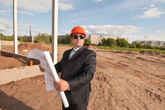 Director of  construction site Stock Photo