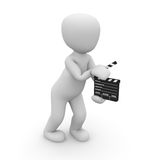 Director. A director cut the film Royalty Free Stock Photo