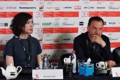 Director de cine Lana Wilson en el 39.o festival de cine del International de Moscú Imágenes de archivo libres de regalías