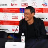 Director de cine SABU del festival de cine internacional de Jap?n 41.o Mosc? fotografía de archivo