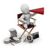 Director de cinema Fotografia de Stock