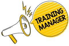 Director de formación del texto de la escritura El significado del concepto que da las habilidades necesarias para la alta mejora stock de ilustración
