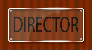 Director Door Plaque Stock Photos