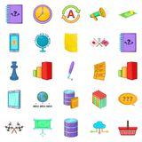 Director icons set, cartoon style Royalty Free Stock Photo