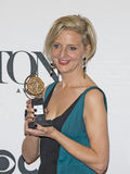 Director Marianne Elliott Wins at 69th Annual Tony Awards in 2015. Director Marianne Elliott arrives to display her Tony Award in the Media Room at 3 West 51st Stock Photo