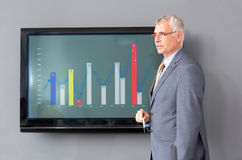 Director on meeting with chart royalty free stock image
