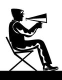 Director with megaphone. Vector Illustration of a Director with megaphone vector illustration