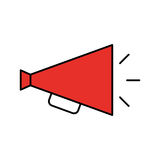 Director megaphone isolated icon Royalty Free Stock Photos