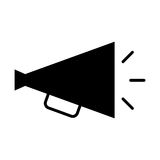 Director megaphone isolated icon Royalty Free Stock Images