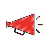 Director megaphone isolated icon Royalty Free Stock Photography
