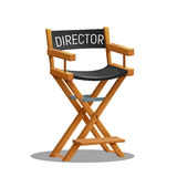 Director movie chair isolated on white background. Vector illustration Royalty Free Stock Photo