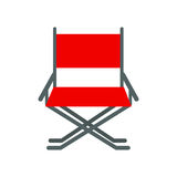 Director movie chair vector. Director movie chair vector illustration  on white background. Hollywood producer cinema industry production tool. Entertainment Royalty Free Stock Photos