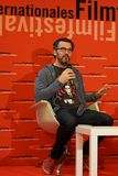Director Patrick Demers en el Internationales Filmfestival Mannheim-Heidelberg 2017 imagen de archivo