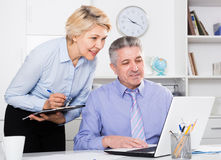 Director`s assistant makes daily routine Stock Photos