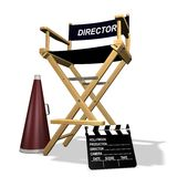 Directors chair. Rendered directors chair over white background Stock Images