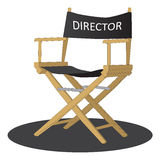 Director's chair. Over white background Stock Image