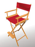Director's chair. Easy to resize or change color Stock Photos
