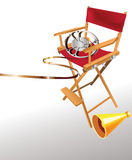 Director's chair. Easy to resize or change color Stock Photo