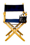 Director's Chair with Clapboard Isolated Royalty Free Stock Images