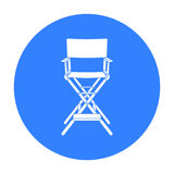Director`s chair icon in black style isolated on white background. Films and cinema symbol stock vector illustration. Stock Image