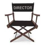 Director's Chair Shows Movie Producer Or Filmmaker Royalty Free Stock Image