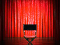 Director`s chair in the theater. 3d rendering Stock Photography