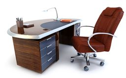 Director's office 3d rendering Stock Photography