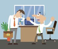 The Director scolds employee. The Director scolds the employee. office life. vector illustration Stock Images