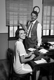 Director and secretary working together in the office Royalty Free Stock Image