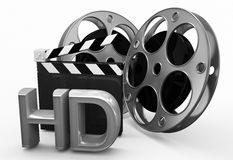 Director slate with high defination concept. 3d high quality render Royalty Free Stock Images