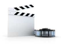 Director slate with spiral Film Royalty Free Stock Photos
