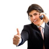 Director with telephone. Young director with telephone smiling Stock Images