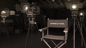 Director y equipo Imagenes de archivo