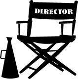 Directors chair. Vector detailed movie icon set Royalty Free Stock Photography