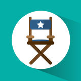 Directors chair cinema and movie design. Directors chair icon. Cinema movie video film and entertainment theme. Colorful design. Vector illustration Royalty Free Stock Photography