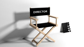 Directors chair. With clapboard isolated on white Royalty Free Stock Photo