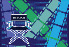 Directors chair Film vector Stock Photos
