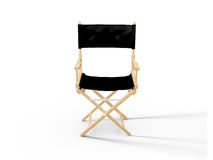 Directors Chair. Front view of directors chair in film industry, isolated on white background Royalty Free Stock Image