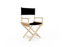Directors Chair. Front view of directors chair in film industry, isolated on white background Royalty Free Stock Images