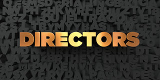 Directors - Gold text on black background - 3D rendered royalty free stock picture. This image can be used for an online website banner ad or a print postcard Stock Photography