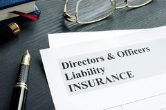 Directors and Officers Liability D&O insurance form