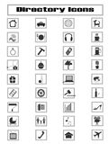Directory. Collection of coomon directory icons Stock Images