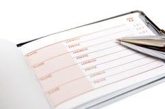 Directory e penna Fotografia Stock