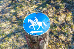 Directory for horsemen. Attached on a stump Royalty Free Stock Photo