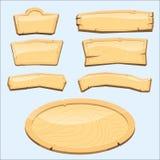 Directory wooden signboard road board wood tablet indicating index arrowhead way vector illustration Royalty Free Stock Photos