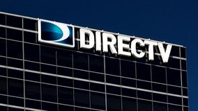 DirecTV Corporate Headquarters and Sign stock footage