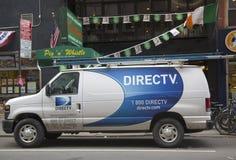 DirecTV van in Manhattan Royalty Free Stock Photo