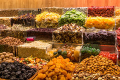 Dired fruits from a market Stock Image